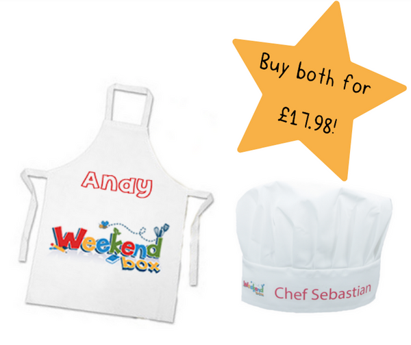 Weekend Box Apron and Chef's Hat (+ FREE Personalisation)