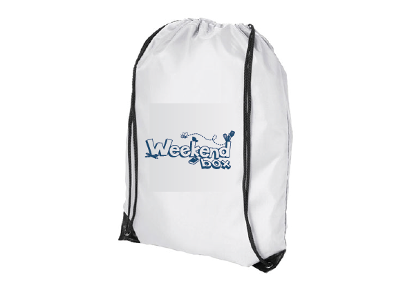 Weekend Box Drawstring Bag