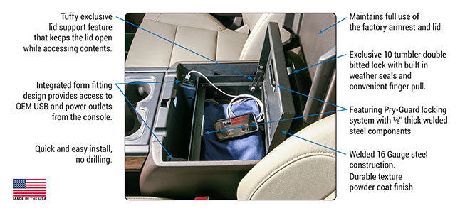 Chevy Silverado 2014-Current Security Console Insert