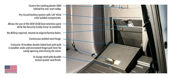Tuffy - Toyota Tacoma Security Cubby Cover