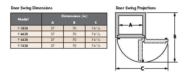 F Series Door Swing