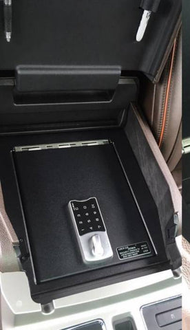 Lock'er Down Safes - Full Floor Console Safe LD2045 - 2015 - 2020 Ford F150 & 2017-2020 Ford Super Duty and 2018-2020 Ford Expedition
