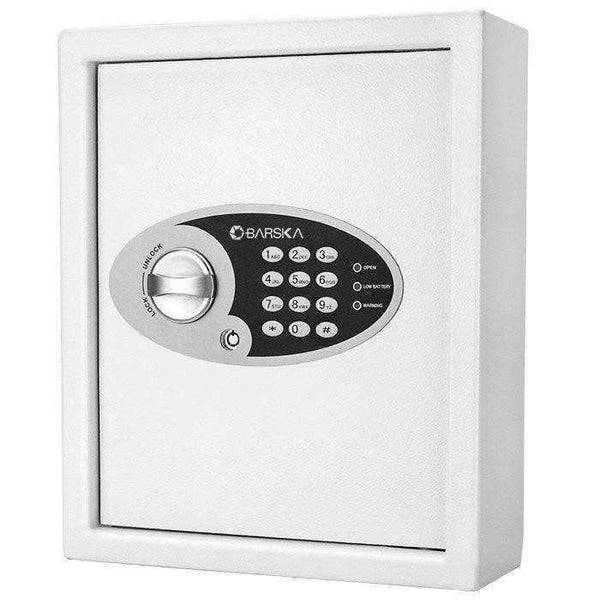 Barska 48 Key Keypad Wall Key Safe - AX12658: 1 PIN Code Memory - Traditional Key Lock