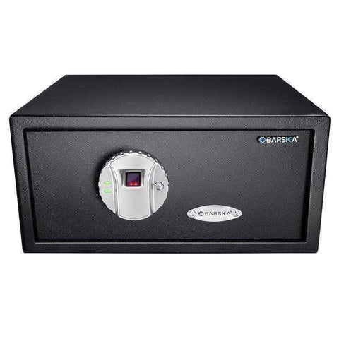 Barska Biometric Fingerprint Safe - AX11224: Black with Memory - 16.25x14.25x7in