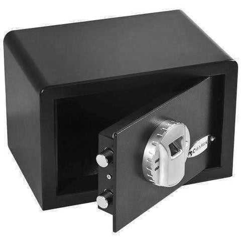 Barska Compact Biometric Safe - AX11620: Black with  Motorized Lock - 12x8x7.75in