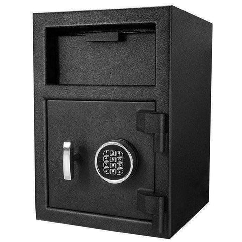 Barska DX-200 Standard Depository Keypad Safe - AX12588: Anti-Fishing Baffles - Solid Steel - Black