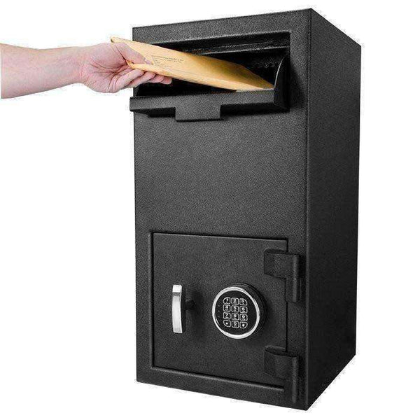 Barska DX-300 Depository Keypad Safe - AX12590: Anti-Fishing Baffles - 3 Steel Locking Bolts - Black