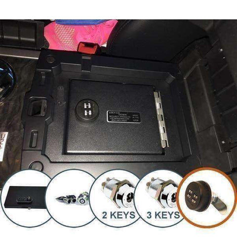 Lock'er Down Safes - Console Safe 2015 - 2017 Ford Expedition - Model LD2050