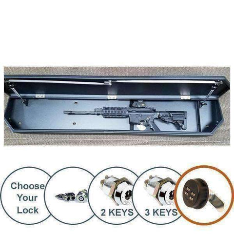 Lock'er Down Safes SuVault 3034 - 2008 - 2016 Ford Super Duty Crew Cab - Under Seat Long Gun Safe