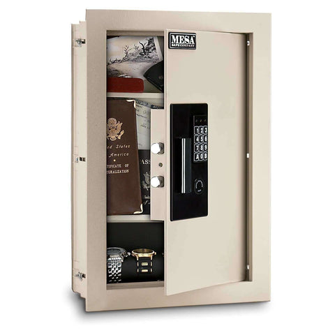Mesa Safes - 0.3-0.7 cu ft All Steel Adjustable Wall Safe with Electronic Lock - MAWS2113E