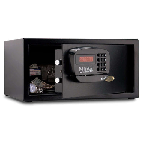 Mesa Safes - All Steel 1.2 cu ft Hotel Safe with Electronic Lock - MHRC916E-BLK