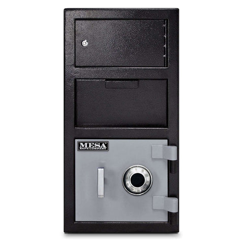 Mesa Safes MFL2014C-OLK - 1.5 cu ft All Steel Depository Safe with Outer Locker and Combination Lock