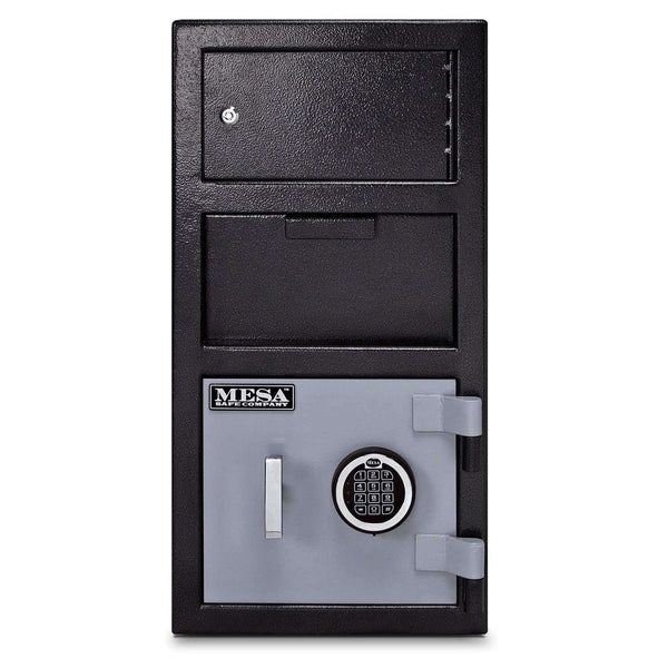 Mesa Safes MFL2014E-OLK - 1.5 cu ft All Steel Depository Safe with Outer Locker and Electronic Lock