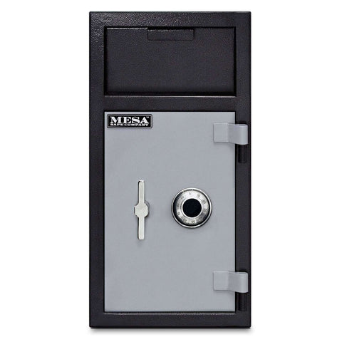 Mesa Safes MFL2714C-ILK - 1.3 cu ft All Steel Depository Safe - Interior Locker and Combination Lock