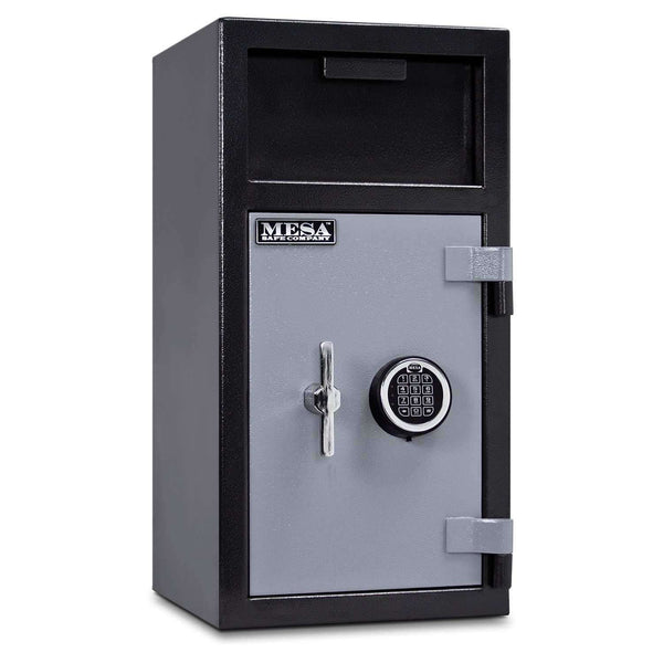 Mesa Safes MFL2714E-ILK - 1.3 cu ft All Steel Depository Safe - Interior Locker and Electronic Lock