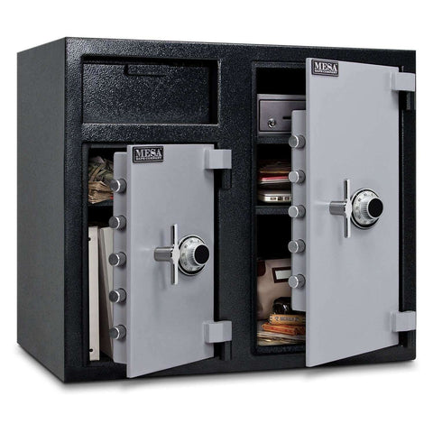 Mesa Safes MFL2731CC - 6.7 cu ft All Steel Depository Safe with Two Combination Locks