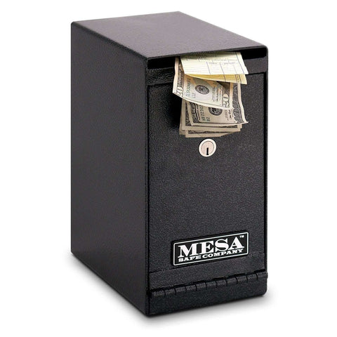 Mesa Safes MUC1K - 0.2 cu ft All Steel Vertical Under counter Depository with Dual Key Lock