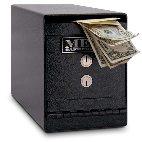 Mesa Safes MUC2K - 0.2 cu ft All Steel Horizontal Under counter Depository with Dual Key Lock