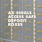 SoCal - Bridgeman Safes AX Single Nose Safe Deposit Box AXSN-6
