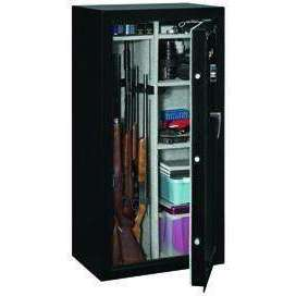 Stack-On 22-Gun Security Safe with Electronic Lock - Fully Convertible - Matte Black – SS-22-MB-E