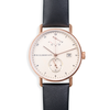 Atticus in Rose Gold with Ivory Black Strap