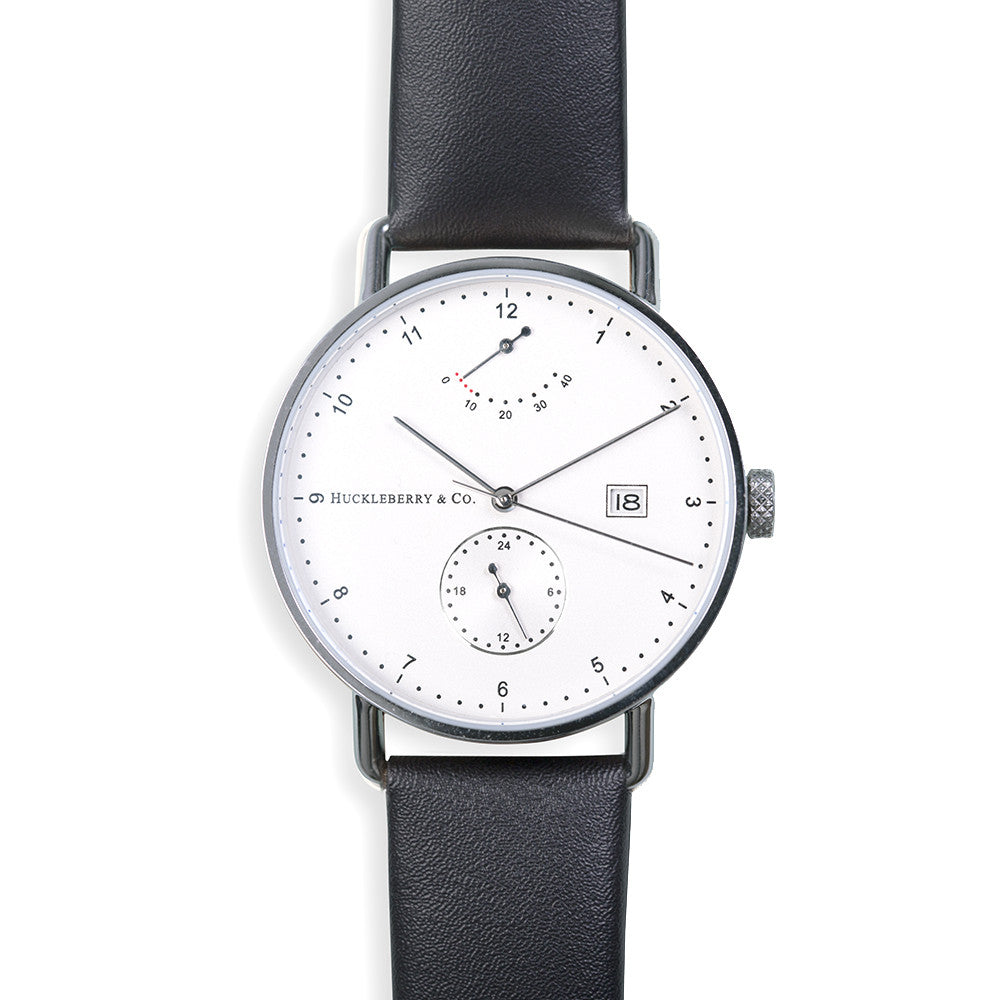 Atticus in Silver with Ivory Black strap