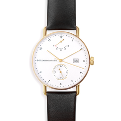Atticus in Gold with Ivory Black Strap