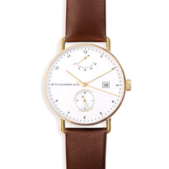 Atticus in Gold with Chestnut Brown Strap