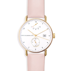 Atticus in Gold with French Pink Strap