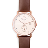 Atticus in Rose Gold with Chestnut Brown Strap