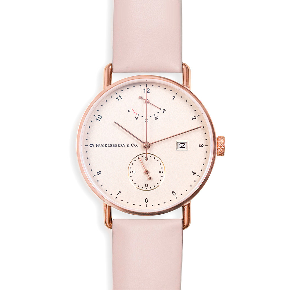Atticus in Rose Gold with French Pink strap