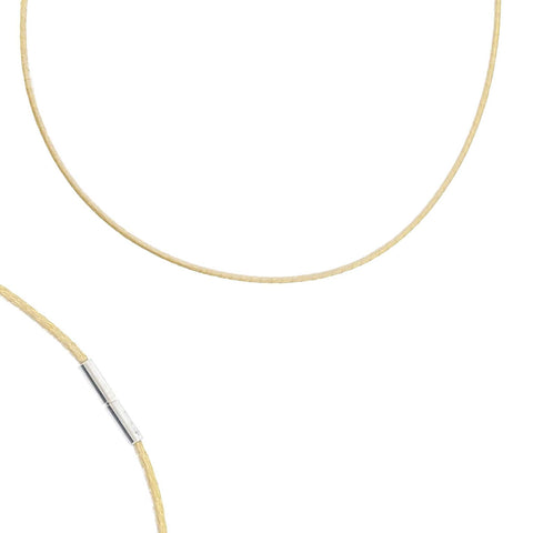 Leather Neckband Gold