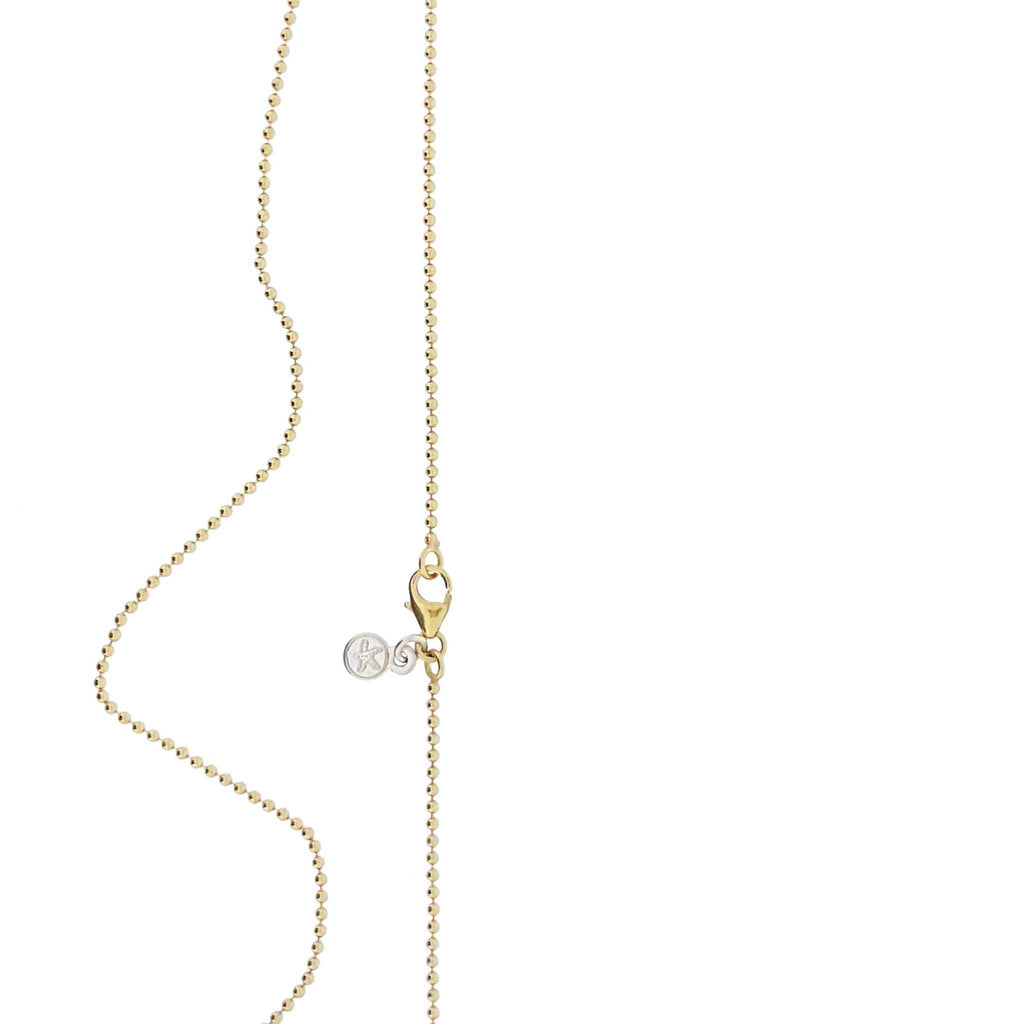 Gold Chain of delicate small balls with parrot clasp