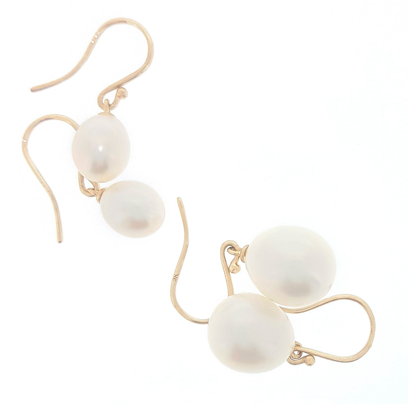 Pearl Earrings 'Pearl Drop' White 9ct - The Courthouse Collection