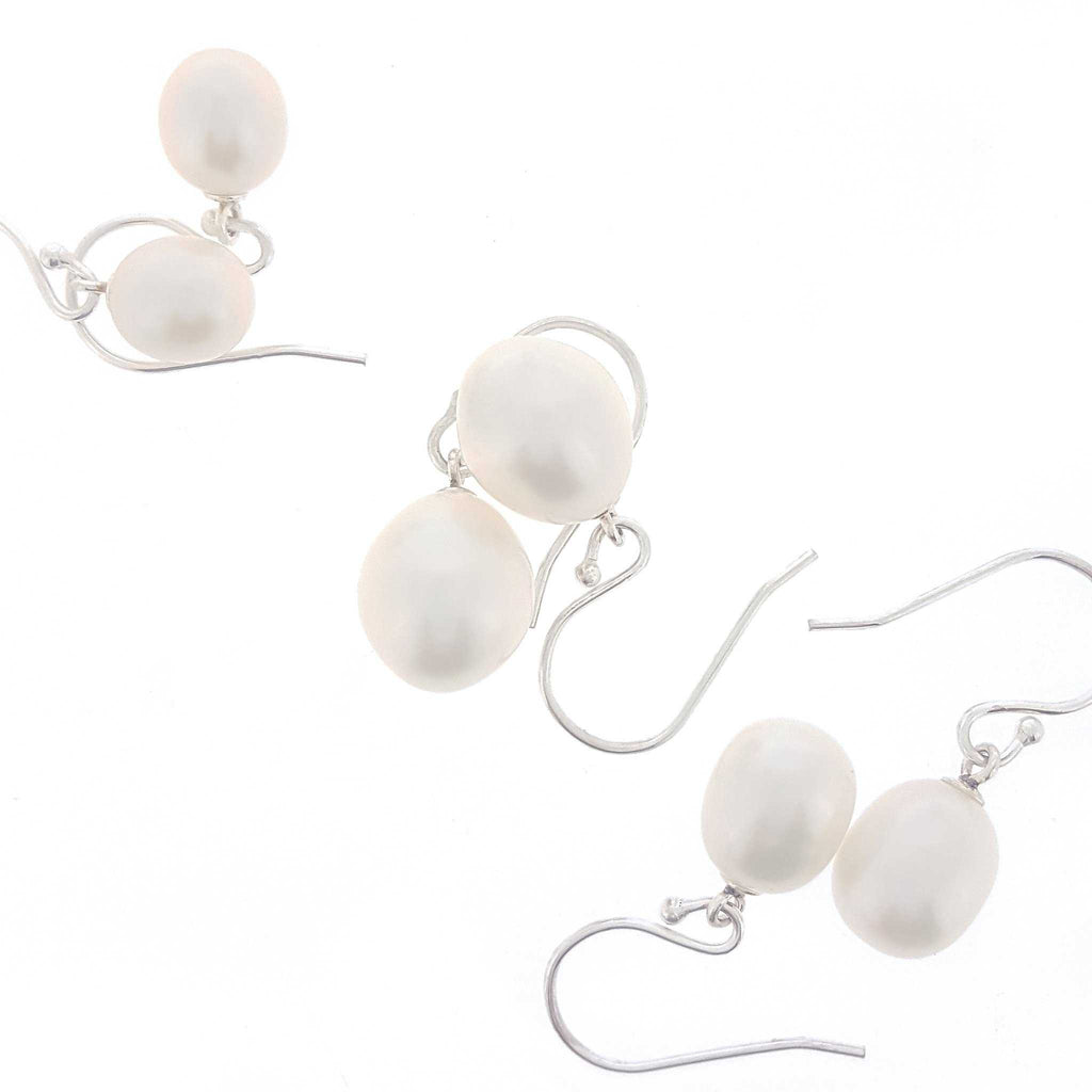 White Pearl Drop - Stg Hook - The Courthouse Collection