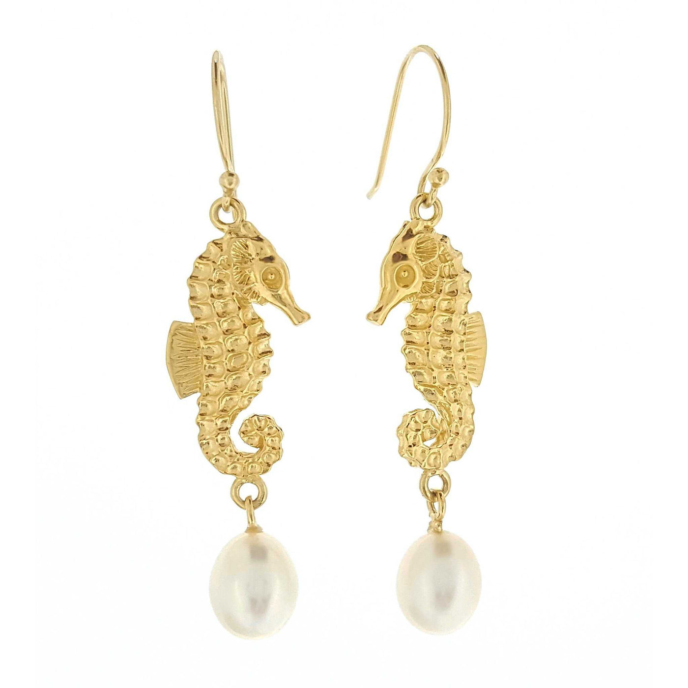 Pearl Earrings 'Seahorse' - The Courthouse Collection