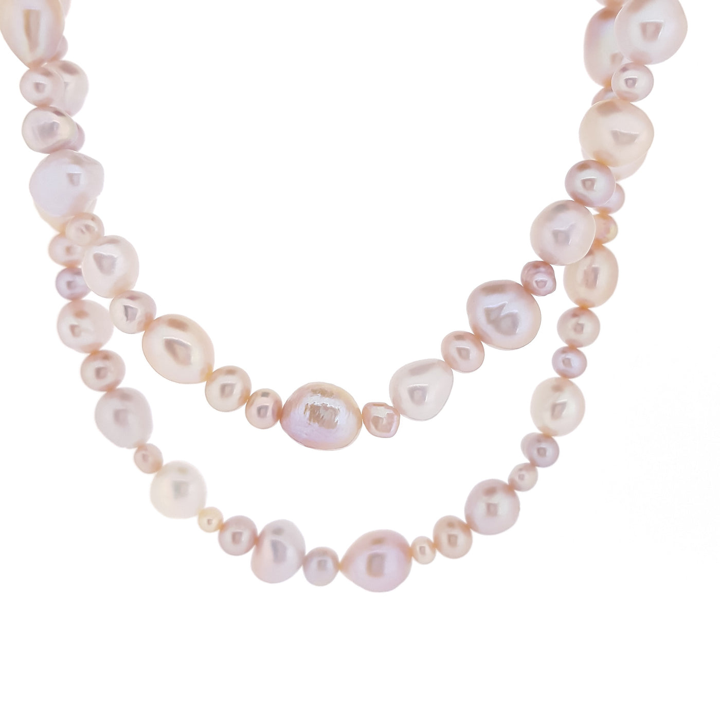 Pearl Necklace 'The Fullstrand' Pink - The Courthouse Collection