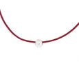 Neckband - Leather Burgundy - The Courthouse Collection