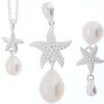 Pearl Pendant 'Starfish' l White Pink Peacock - The Courthouse Collection