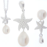 Silver Starfish - White - The Courthouse Collection