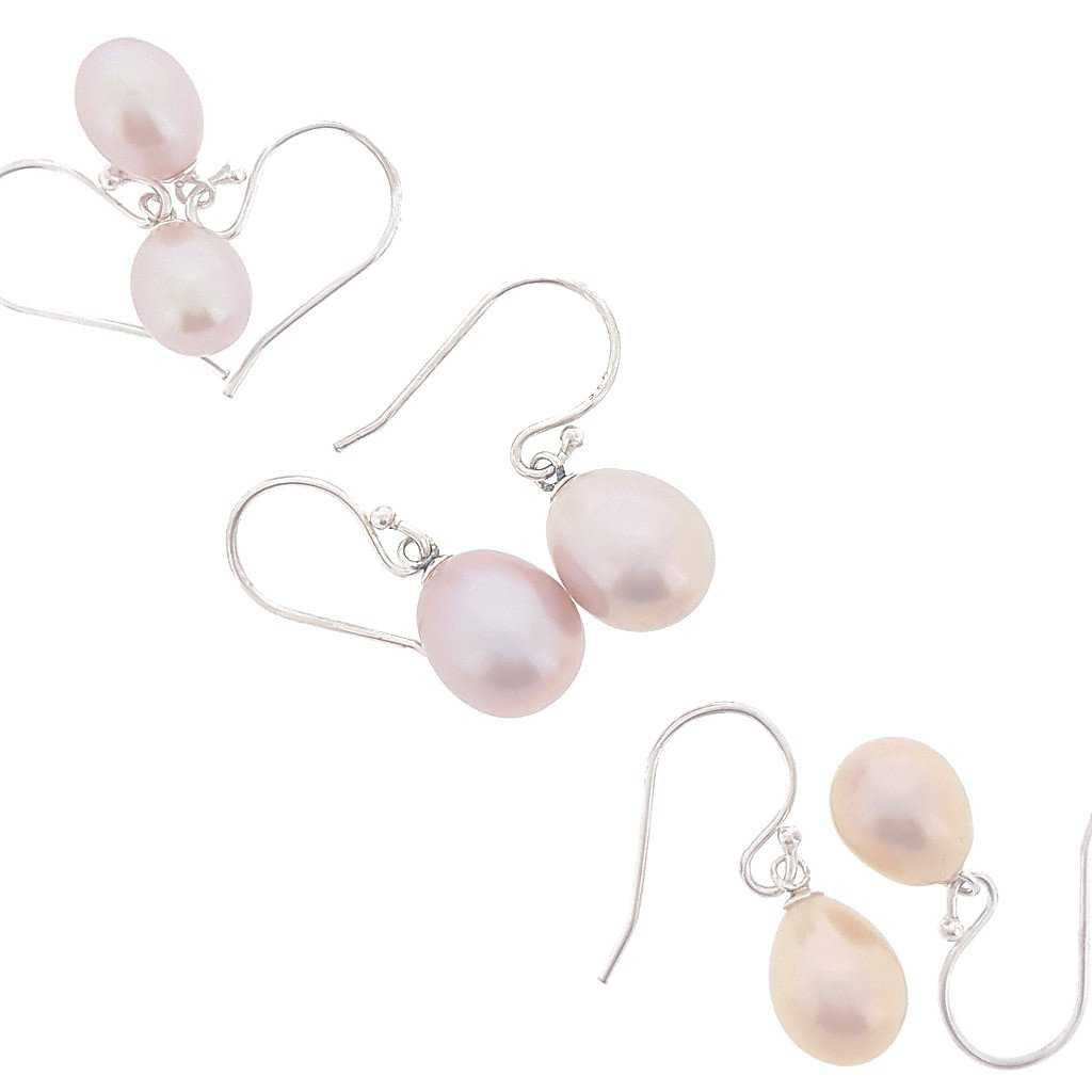 Pink Pearl Drop - Stg Hook - The Courthouse Collection