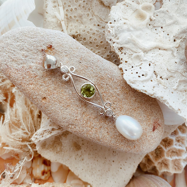 Peridot & Pearl Pendant 'Classic Beauty' - The Courthouse Collection