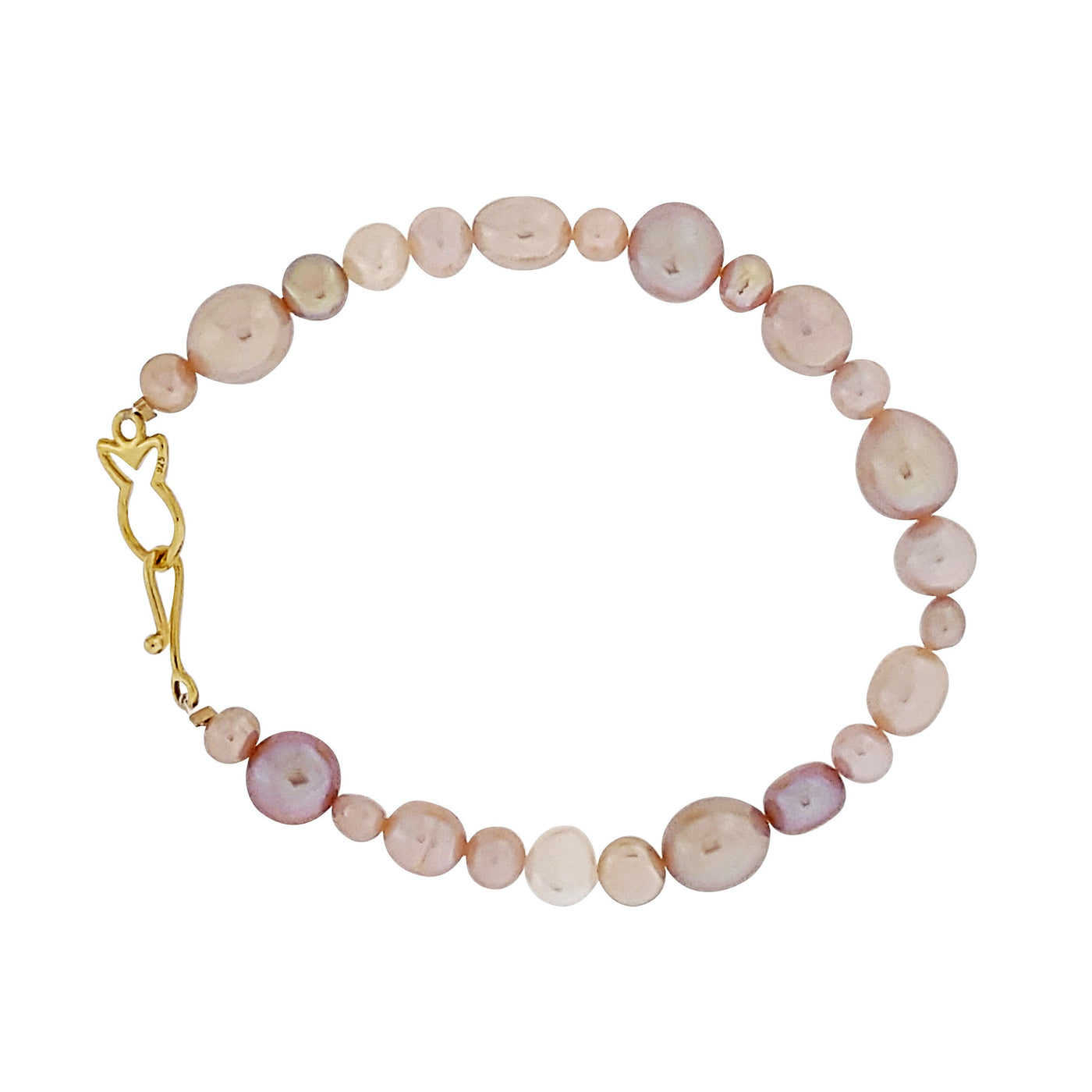 Pearl Bracelet 'Fullstrand' Pink - The Courthouse Collection