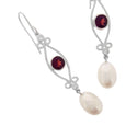 Garnet & Pearl Earrings 'Classic Beauty' - The Courthouse Collection