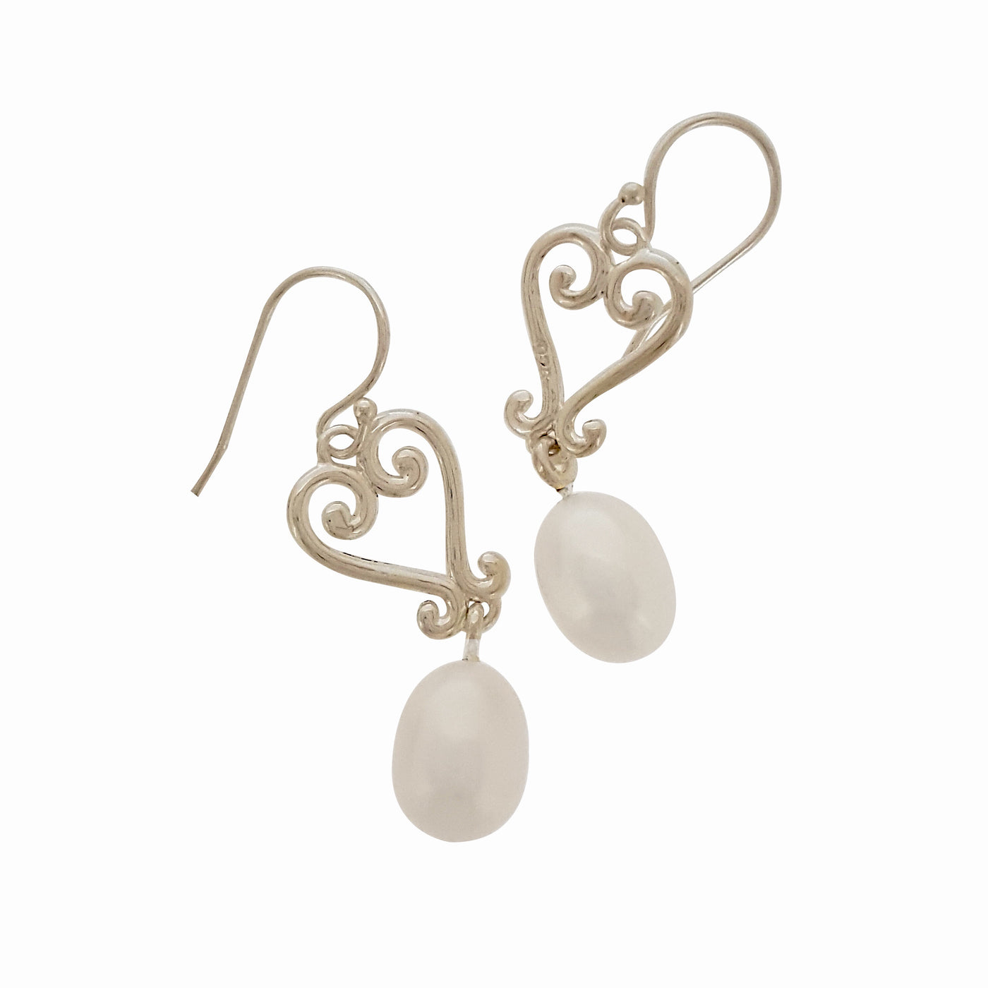 Pearl Earrings 'Romance Heart' - The Courthouse Collection