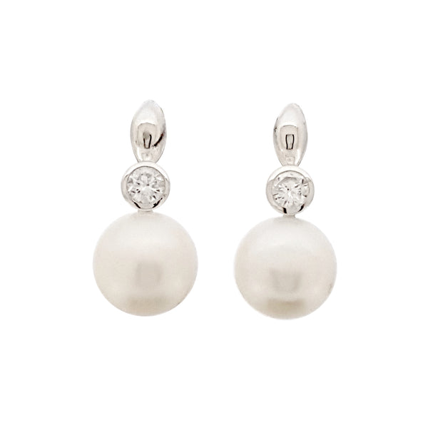 Pearl Earrings 'Sparkling Leaf' - The Courthouse Collection