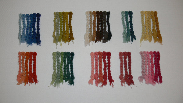 Vegetable dyed Worsted Shades for needlework