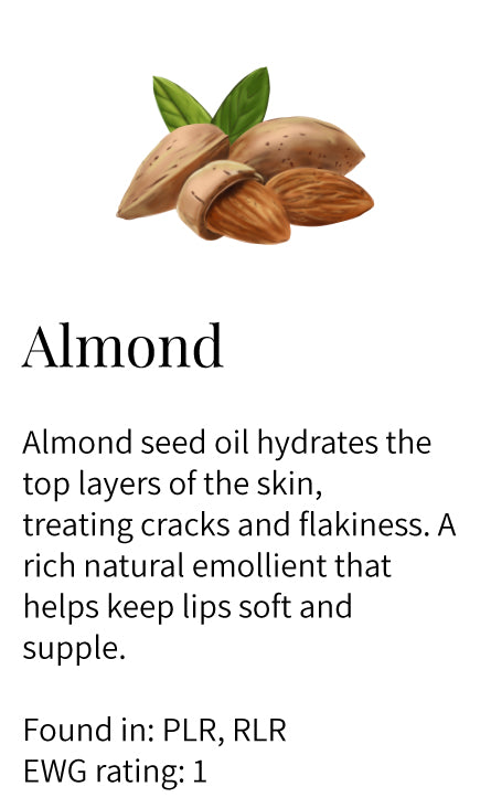 almond seed oil, hydrating, nourishing, moisturizing, emollient, conditioning, softening, lips, lip balm