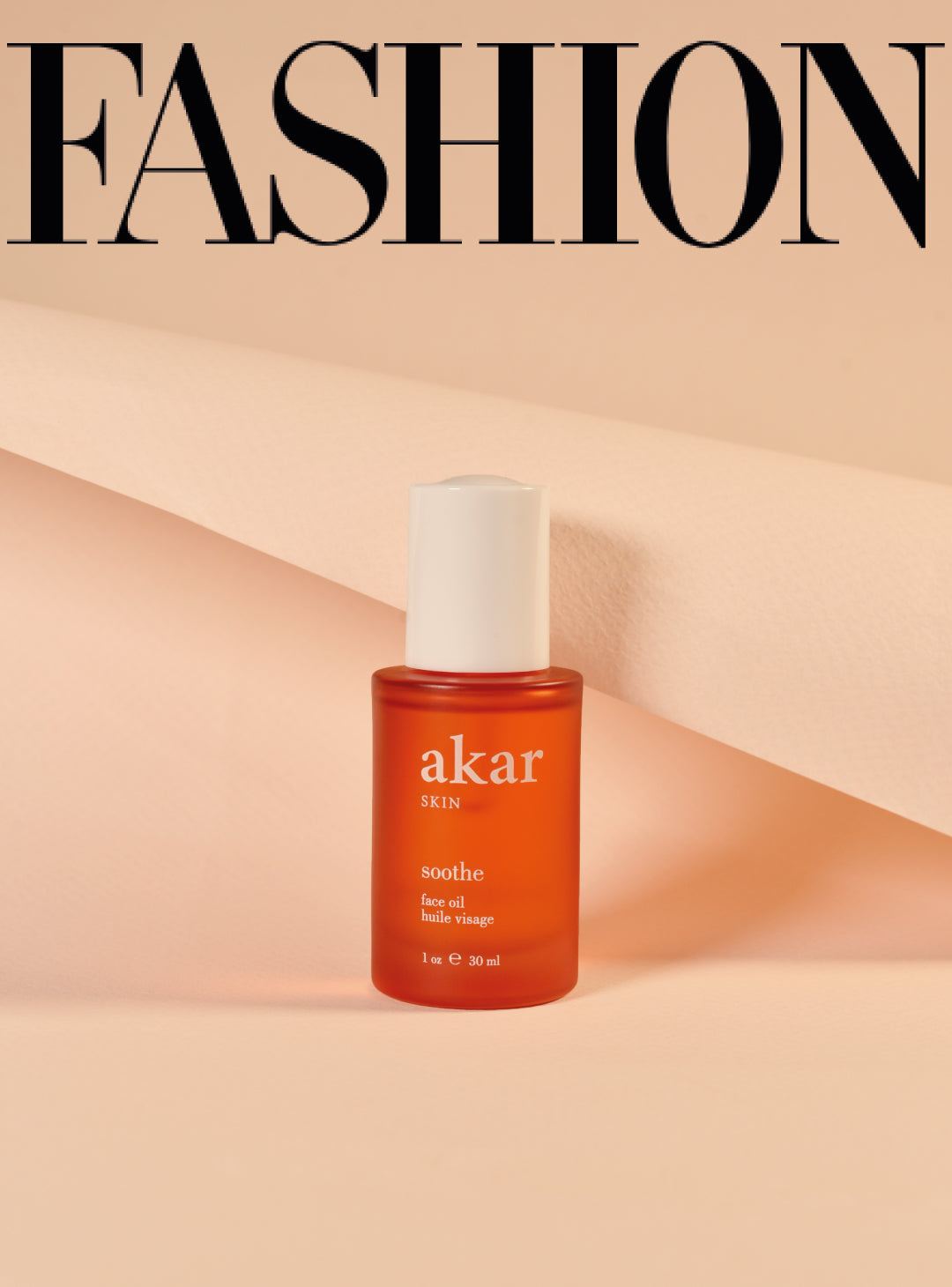 Fashion, magazine, soothe, face oil, akar skin