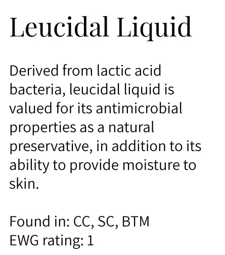 leucidal liquid, lactic acid bacteria, antimicrobial, natural preservative, moisturizing